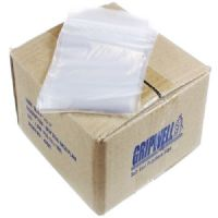 Clear Polythene Grip Seal Bags 3.5x4.5""